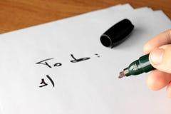 摘要执行想法列表 免版税库存图片