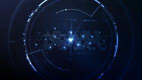 摘要技术六角网际空间接口平台 皇族释放例证
