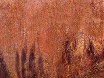 摘要挖坑的铜和铁锈金属背景 库存照片