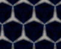 摘要挤压了样式3D例证不对称的五边形 皇族释放例证