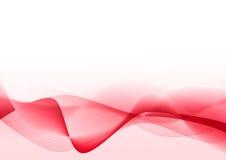 摘要排行红色波浪 免版税库存照片