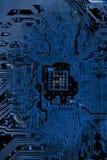 摘要接近电子线路在技术在Mainboard计算机背景 库存照片