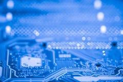 摘要接近电子线路在技术在Mainboard计算机背景 免版税库存图片