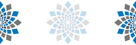 摘要摆正水平圆元素的空白 向量例证