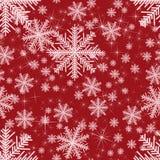 摘要无缝与雪花 圣诞节 免版税库存照片