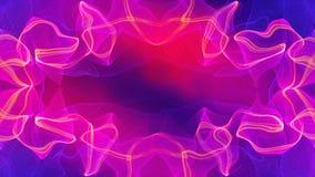 摘要桃红色回合波浪在未来派创造性的,3d空间回报引起背景的计算机 库存例证