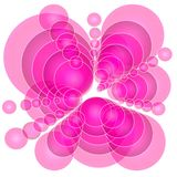 摘要盘旋不透明的粉红色 向量例证