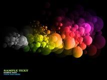 摘要盘旋彩虹 向量例证