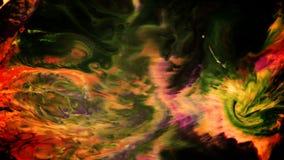 摘要神秘的不可思议的墨水油漆爆炸传播 影视素材