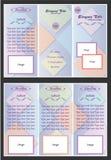 摘要箱子小册子设计模板 库存照片