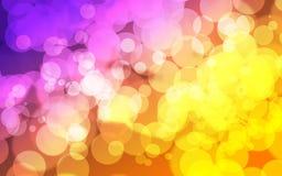 摘要紫色橙色bokeh背景 抽象紫罗兰色bokeh墙纸 向量例证
