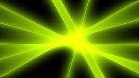 摘要绿灯光芒背景 库存例证