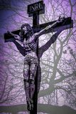摘要罗斯耶稣仿造与充满活力的颜色 免版税库存图片