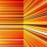 摘要翘曲的橙色和黄色条纹 免版税库存图片