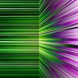 摘要翘曲的绿色和紫色条纹 免版税图库摄影