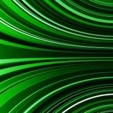 摘要翘曲的绿色条纹五颜六色的背景 免版税库存图片