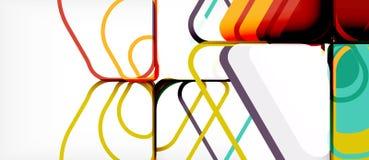 摘要背景多彩多姿的几何形状现代设计 库存例证