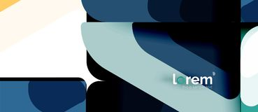 摘要背景多彩多姿的几何形状现代设计 皇族释放例证