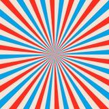 摘要色的光束背景 红色和蓝色太阳光芒 向量例证