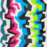 摘要色的几何难看的东西无缝的样式 免版税图库摄影