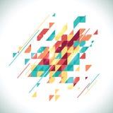 摘要色的几何题材 平的现代马赛克 库存例证