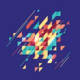 摘要色的几何题材 平的现代马赛克 Busines Th 皇族释放例证