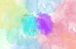 摘要色的多地点水彩 库存图片