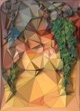 摘要色的多角形三角马赛克背景 3d翻译 图库摄影