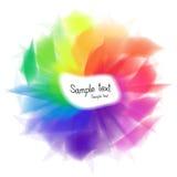 摘要色的彩虹文本模板 免版税库存图片