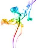 摘要色的跳舞的烟 免版税库存照片