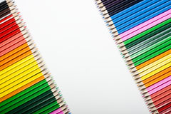 摘要色的铅笔 免版税库存图片