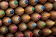 摘要色的铅笔 图库摄影