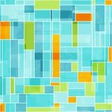 摘要色的马赛克无缝的样式 免版税库存图片