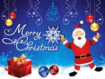 摘要艺术性的创造性的蓝色圣诞节背景 库存例证