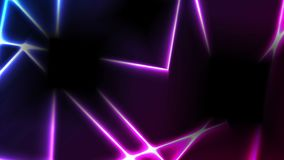 摘要蓝色紫色技术发光的霓虹线录影动画 向量例证