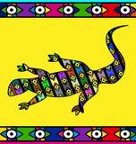 摘要蜥蜴的色的图象 免版税库存图片