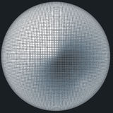 摘要被反映的球 向量例证