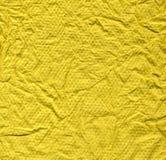 摘要被弄皱的纹理黄色 库存照片