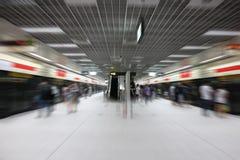 摘要被弄脏的地铁站背景 免版税库存照片