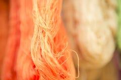 摘要被弄脏的颜色螺纹背景 图库摄影