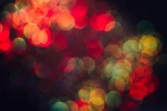 摘要被弄脏的轻的背景,五颜六色的光晕 图库摄影