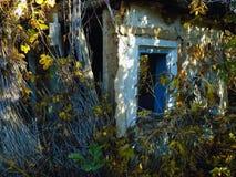 摘要被忘记的老房子背景 大厦墙纸背景 库存图片