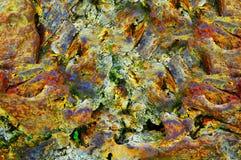 摘要被风化的五颜六色的岩石 图库摄影