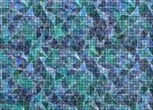 摘要被画的五颜六色的背景 在蓝色颜色的艺术性的墙纸 皇族释放例证