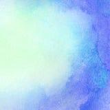摘要被绘的水彩水,五颜六色的春天 免版税库存照片