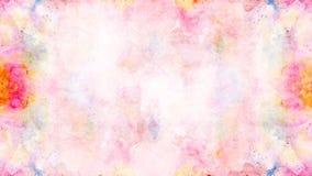 摘要软的五颜六色的水彩绘了背景 免版税库存照片