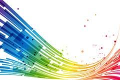 摘要镶边彩虹背景 免版税图库摄影