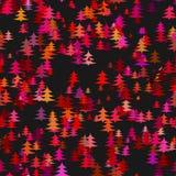 摘要风格化混乱松树背景-冬天装饰设计 向量例证