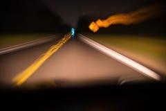 摘要驾驶在的被弄脏的行动 免版税库存图片