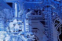 摘要,关闭在电子线路,我们看mainboard的技术,是comput的重要背景 免版税库存照片